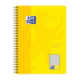 Collegeblock Oxford Touch B5 kariert 80 Blatt 90g Optik Paper weiß sonnengelb 400086486 Produktbild