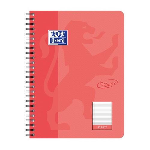 Collegeblock Oxford Touch B5 liniert 80 Blatt 90g Optik Paper weiß koralle 400086490 Produktbild Front View L