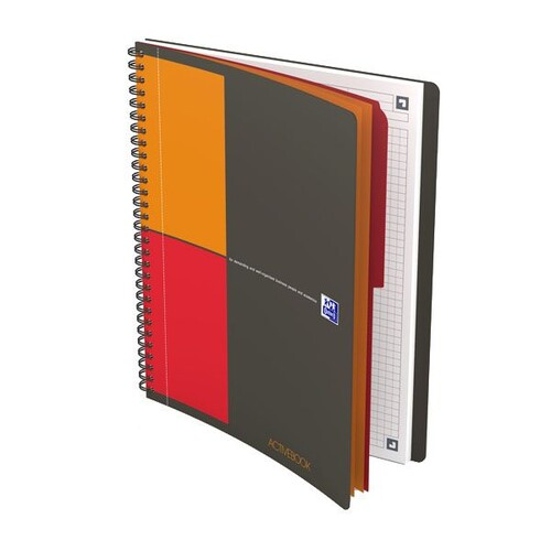 Activebook Oxford Connect B5 kariert 80 Blatt 90g Optik Paper weiß 400080786 Produktbild Front View L