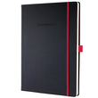 Notizbuch CONCEPTUM Red Edition Hard- cover kariert A4 213x295mm 194 Seiten schwarz/ rot Hardcover Sigel CO660 Produktbild