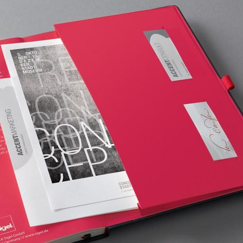 Notizbuch CONCEPTUM Red Edition Hard- cover kariert A4 213x295mm 194 Seiten schwarz/ rot Hardcover Sigel CO660 Produktbild Additional View 4 L
