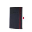 Notizbuch CONCEPTUM Red Edition Hard- cover kariert A5 148x213mm 194 Seiten schwarz/rot Hardcover Sigel CO662 Produktbild