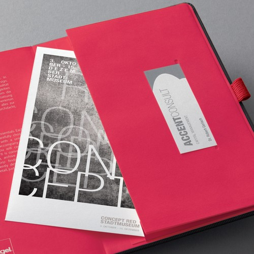 Notizbuch CONCEPTUM Red Edition Hard- cover kariert A5 148x213mm 194 Seiten schwarz/rot Hardcover Sigel CO662 Produktbild Additional View 4 L