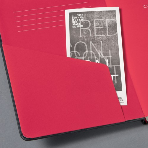 Notizbuch CONCEPTUM Red Edition Hard- cover kariert A5 148x213mm 194 Seiten schwarz/rot Hardcover Sigel CO662 Produktbild Additional View 6 L