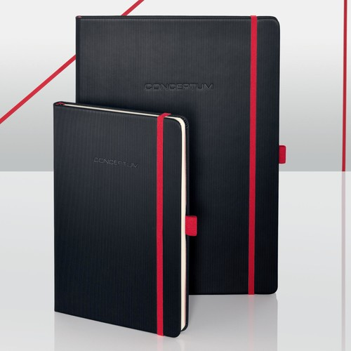 Notizbuch CONCEPTUM Red Edition Hard- cover kariert A5 148x213mm 194 Seiten schwarz/rot Hardcover Sigel CO662 Produktbild Additional View 8 L