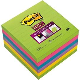 Haftnotizen Post-it Super Sticky Notes 101x101mm Bangkok Collection liniert 3M Papier 6756SSU (PACK=540 BLATT) Produktbild