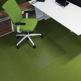 Bodenschutzmatte ecogrip für Teppich- böden Form O rechteckig 120x90cm, 1,8mm stark transparent Makrolon RS 11-0900 Produktbild