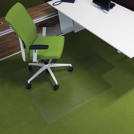 Bodenschutzmatte ecogrip für Teppich- böden Form U 120x130cm, 1,8mm stark transparent Makrolon RS 11-130U Produktbild