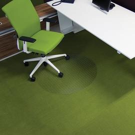 Bodenschutzmatte ecogrip für Teppich- böden Form R rund ø60cm, 1,8mm stark transparent Makrolon RS 11-060R Produktbild