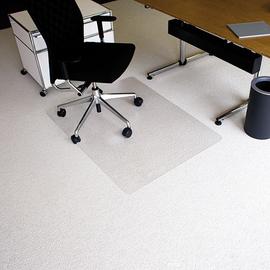 Bodenschutzmatte ecoblue für Teppich- böden Form O rechteckig 120x90cm, 2,1mm stark transparent PET RS 07-090O Produktbild