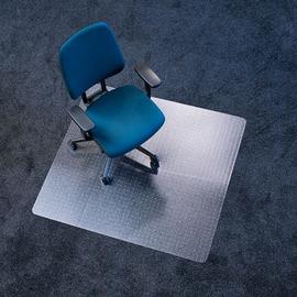 Bodenschutzmatte ecoblue für Teppich- böden Form O rechteckig 130x120cm, 2,1mm stark transparent PET RS 07-130O Produktbild