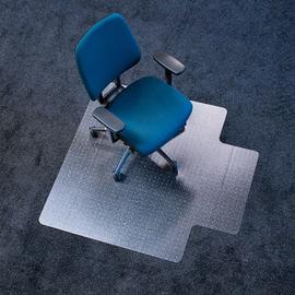 Bodenschutzmatte ecoblue für Teppich- böden Form U 120x130cm, 2,1mm stark transparent PET RS 07-130U Produktbild