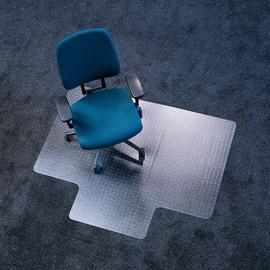 Bodenschutzmatte ecoblue für Teppich- böden Form L 120x150cm, 2,1mm stark transparent PET RS 07-150L Produktbild