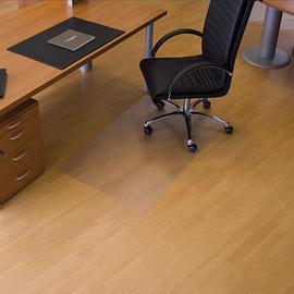 Bodenschutzmatte ecogrip für Hart- böden Form O rechteckig 90x120cm, 1,8mm stark transparent Makrolon RS 12-0900 Produktbild