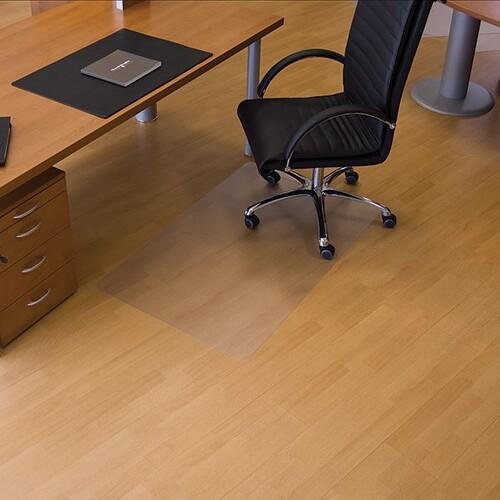 Bodenschutzmatte ecogrip für Hart- böden Form O rechteckig 90x120cm, 1,8mm stark transparent Makrolon RS 12-0900 Produktbild Front View L