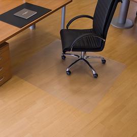 Bodenschutzmatte ecogrip für Hart- böden Form O rechteckig 130x120cm, 1,8mm stark transparent Makrolon RS 12-1300 Produktbild