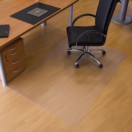 Bodenschutzmatte ecogrip für Hart- böden Form O rechteckig 150x120cm, 1,8mm stark transparent Makrolon RS 12-1500 Produktbild