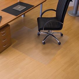 Bodenschutzmatte ecogrip für Hart- böden Form U 120x130cm, 1,8mm stark transparent Makrolon RS 12-130U Produktbild