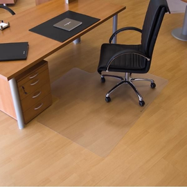 Bodenschutzmatte ecogrip für Hart- böden Form L 120x150cm, 1,8mm stark transparent Makrolon RS 12-150L Produktbild