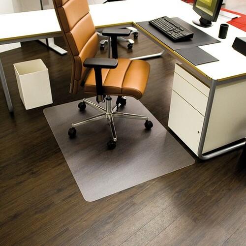 Bodenschutzmatte ecoblue für Hart- böden Form O rechteckig 120x90cm, 1,8mm stark transparent PET RS 08-090O Produktbild Front View L