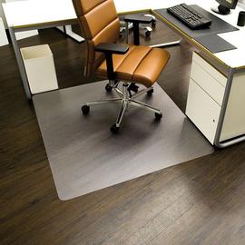Bodenschutzmatte ecoblue für Hart- böden Form O rechteckig 120x130cm, 1,8mm stark transparent PET RS 08-1300 Produktbild