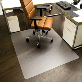 Bodenschutzmatte ecoblue für Hart- böden Form O rechteckig 120x150cm, 1,8mm stark transparent PET RS 08-1500 Produktbild