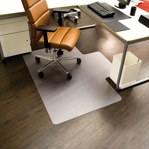 Bodenschutzmatte ecoblue für Hart- böden Form L 120x150cm, 1,8mm stark transparent PET RS 08-150L Produktbild Front View L
