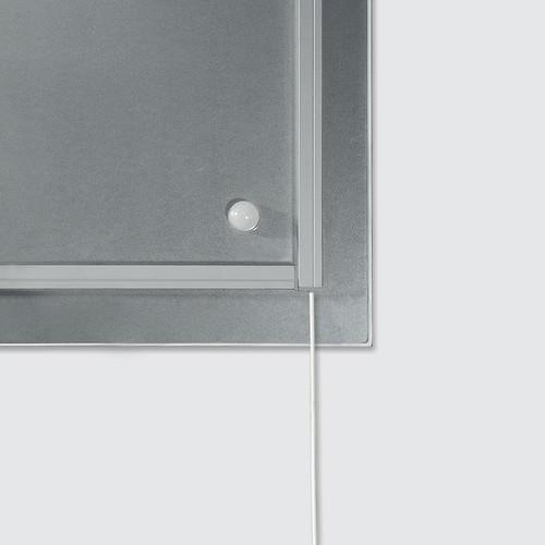 Glas-Magnetboard artverum mit LED-Licht 910x460x15mm Design World-Map inkl. Magnete Sigel GL409 Produktbild Additional View 1 L
