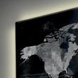 Glas-Magnetboard artverum mit LED-Licht 910x460x15mm Design World-Map inkl. Magnete Sigel GL409 Produktbild Additional View 5 S