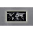 Glas-Magnetboard artverum mit LED-Licht 910x460x15mm Design World-Map inkl. Magnete Sigel GL409 Produktbild