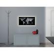 Glas-Magnetboard artverum mit LED-Licht 910x460x15mm Design World-Map inkl. Magnete Sigel GL409 Produktbild Back View S