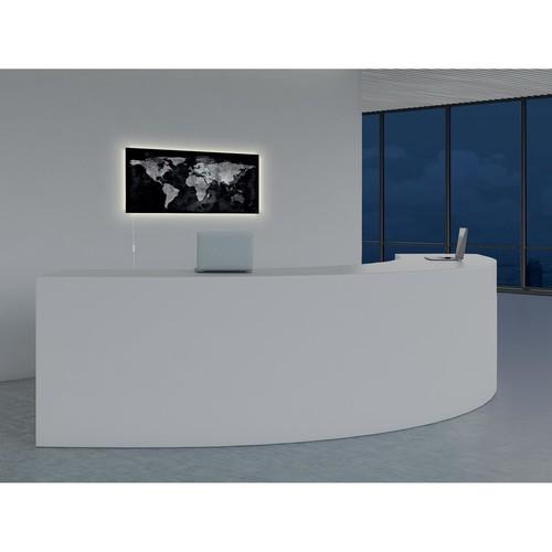 Glas-Magnetboard artverum mit LED-Licht 910x460x15mm Design World-Map inkl. Magnete Sigel GL409 Produktbild Default L