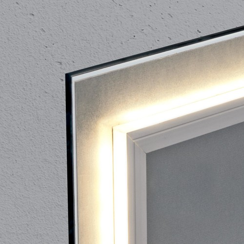 Glas-Magnetboard artverum mit LED-Licht 1300x550x15mm Design World-Map inkl. Magnete Sigel GL410 Produktbild Additional View 2 L