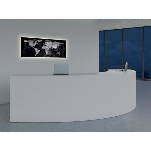 Glas-Magnetboard artverum mit LED-Licht 1300x550x15mm Design World-Map inkl. Magnete Sigel GL410 Produktbild Additional View 8 L