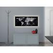 Glas-Magnetboard artverum mit LED-Licht 1300x550x15mm Design World-Map inkl. Magnete Sigel GL410 Produktbild Back View S