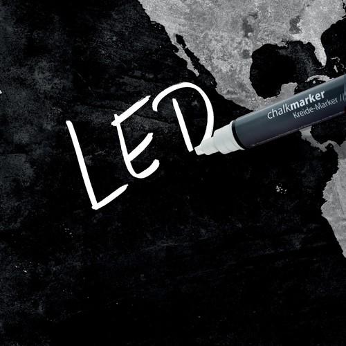 Glas-Magnetboard artverum mit LED-Licht 1300x550x15mm Design World-Map inkl. Magnete Sigel GL410 Produktbild Additional View 7 L