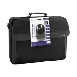 """Targus Intellect Clamshell - Notebook-Tasche - 43.9 cm (17.3"""") - Grau, Schwarz - mit schnurlose optische Produktbild"""