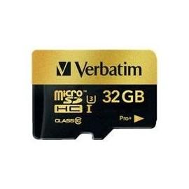 Verbatim PRO+ - Flash-Speicherkarte (microSDHC/SD-Adapter inbegriffen) - 32 GB - UHS Class 3 / Class10 - microSDHC Produktbild