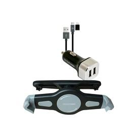 Realpower Tablet Car Set - Auto-Netzteil - 2.4 A - 2 Ausgabeanschlussstellen (2 x USB) - auf Produktbild