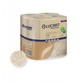 Aktion Toilettenpapier Zellstoff 250 Blatt 2-lagig havanna Fiberpack ECONATURAL 250 (PACK=64 ROLLEN) Produktbild