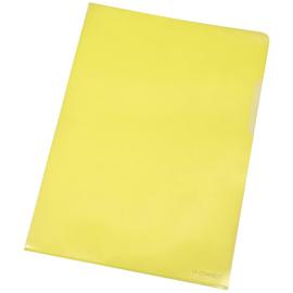 Sichthüllen oben + rechts offen A4 120µ gelb PP genarbt BestStandard KF00308 (PACK=100 STÜCK) Produktbild