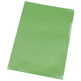 Sichthüllen oben + rechts offen A4 120µ grün PP genarbt BestStandard KF00309 (PACK=100 STÜCK) Produktbild