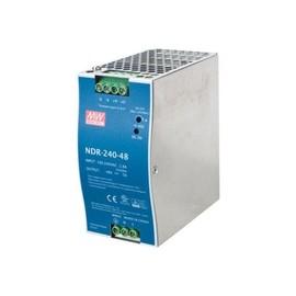 MEAN WELL DR-240-48 - Stromversorgung (DIN-Schienenmontage möglich) - Wechselstrom 100-240 V - 240 Watt - Produktbild