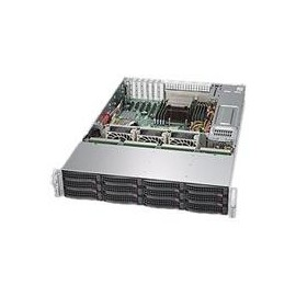 Supermicro SuperStorage Server 6028R-E1CR12H - Server - Rack-Montage - 2U - zweiweg - RAM 0 MB Produktbild