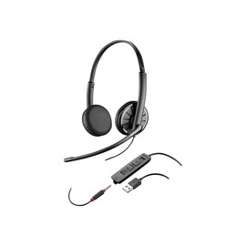 Plantronics Blackwire 325 - 300 Series - Headset - On-Ear - kabelgebunden - USB, 3,5 mm Stecker (Packung mit 50) Produktbild