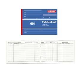 Fahrtenbuch 601 für A6 quer 40 Blatt geheftet Herlitz 840645 Produktbild
