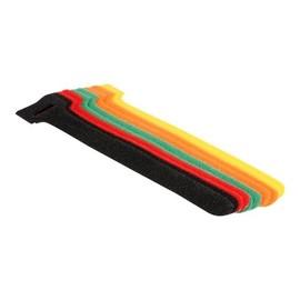 DeLOCK Hook-and-loop fastener - Kabelbinder - 15 cm - Schwarz, Gelb, Rot, grün, orange (Packung mit 10) Produktbild