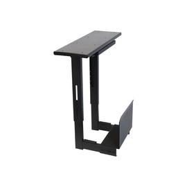 Lindy Sliding Under Desk PC Holder - Montageset - unter Tisch montierbar - Black Powder Coat Produktbild