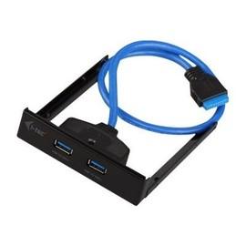 i-Tec USB 3.0 Extender - Anschlüsse am vorderen Bedienfeld des Speicherschachts - USB 3.0 x 2 Produktbild