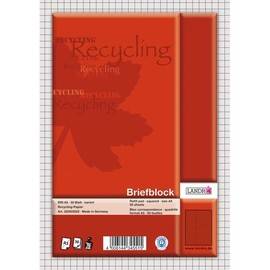 Briefblock A4 kariert 50Blatt 70g Recycling Landré 100050116 Produktbild